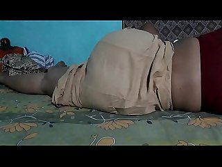 SLEEPING BEAUTY SANJANA AUNTY IN BROWN PETTICOT