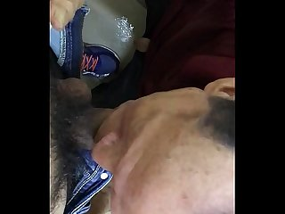 Old man public toilet suck cock and cum