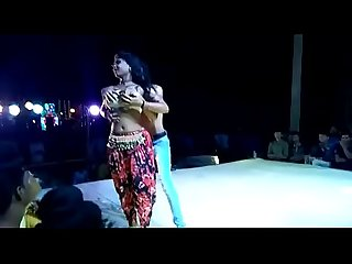sexy dance girl n boy enjoy in public program
