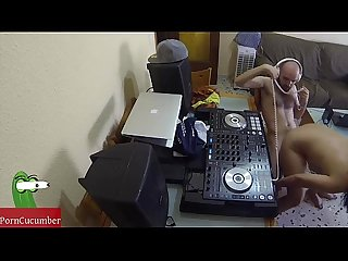 Dj fucking and scratching in the chair with a hidden cam spying my hot gf