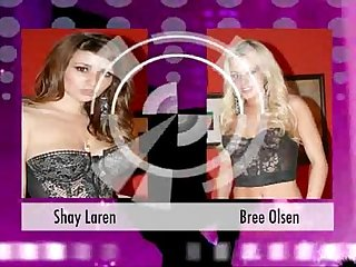 Shay Laren and Bree Olson suck each other's tits