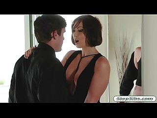 Huge titted MILF Yasmin Scott gets drilled by her stepson