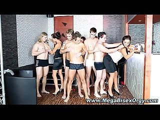 Hard dick bi group orgy action