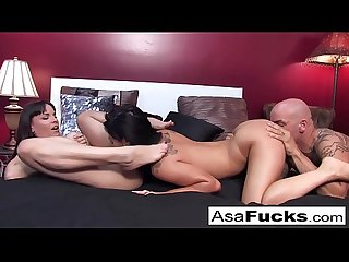 Asa Akira and Dana team up for a hot threesome with Derek