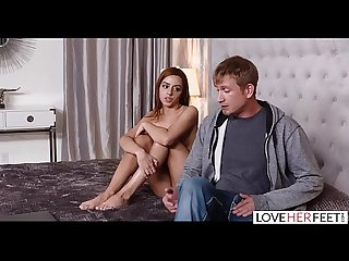 LoveHerFeet - 18 Year Old Cam Girl Get's Caught And Then Foot Fucked