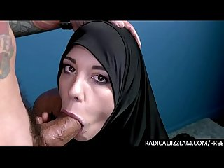 Arab refugee sucks a big cock for conversion