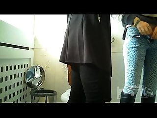 Spy cam in womens toilet - Two beauties were standing up
