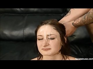 Hardcore throat fuck and pussy fuck for Violet Monroe