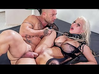 HER LIMIT - Silicone tits blonde Barbie Sins extreme anal session