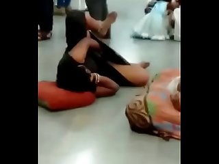 Desi lady fingering in public at mumbai railway station in crowd