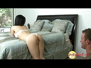 Big tit asian milf pushing her slippery cunt hard on white fat cock