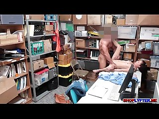 Sexy thief Carolina got fucked in her tight cunt