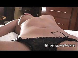 Filipina.webcam sex chat girl in hotel strips nude fingers wet hairy pussy