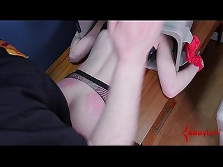 Goth girl fed piss and ass fucked in the trash