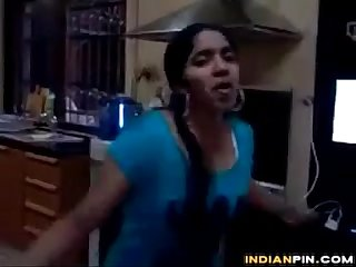 Cute Indian Dances And Teases Her Body